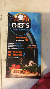 Chef's pizza & Donair