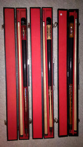 "3 Pool Cues -2 piece ""Master Speed"" with Cases Belleville Belleville Area image 1"