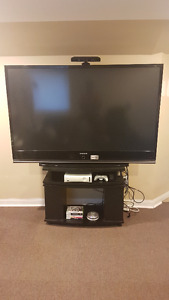 Xbox 360 with Kinect,12 games + 65' 1080p Samsung TV and stand
