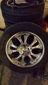 "20"" chrome aftermarket wheels for chev 6bolt"