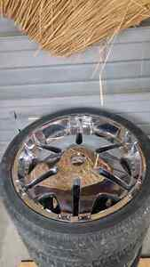 """22"""" Player Rims With Tires (2 New) Windsor Region Ontario image 3"""