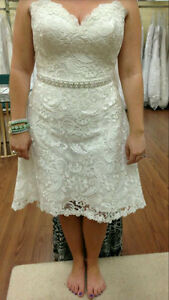 Short Lace Wedding Dress St. John's Newfoundland image 1