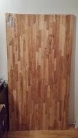 Plan de travail en bouleau  - Support en bois - 73 1/4x39 3/8po