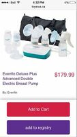 Evenflo double breast pump +handheld