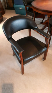 Set of 4 poker table chairs