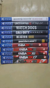 PLAYSTATION 4 GAMES EXCELLENT CONDITION SALE