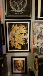 Kurt Cobain RS Original Painting 18 X 24 Splatter Art By LeBach