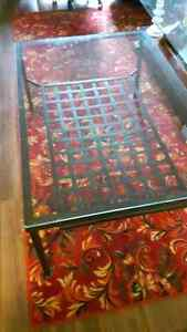 GLASS COFFEE TABLE & END TABLE SET