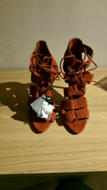 Brand new Zara leather sandals