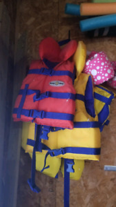 Infant and toddler life jackets $10 each