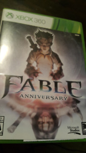 XBOX 360 GAMES - Fable Anniversary & Fable II (used)