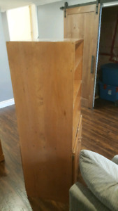 CUSTOM BUILT SOLIDWOOD STEREO STAND/CABINET Will take best offer