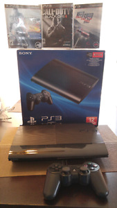 Playstation 3 with 3 game for sale