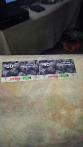 Two brand new gift cards just got them in today