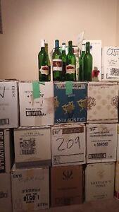 Bouteilles vin vide à vendre 2.75$/cs de 12 ou 2 cs pour 5.00$