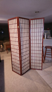 3 Panel Room Divider/Privacy Screen