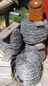 3 rolls of barbedvwire