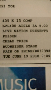 Poison/cheap trick tickets