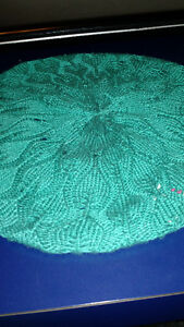 HAND KNIT TEAL FRENCH BERET HAT Kingston Kingston Area image 2
