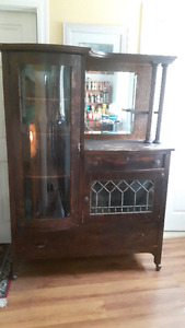 Antique china cabinet/buffet.