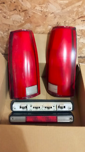 Tail Lights + Third Brake Light for 88-98 Chevy/GM Truck