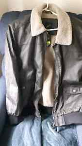 Mens brown faux leather jacket Comox / Courtenay / Cumberland Comox Valley Area image 1