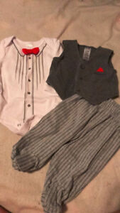 0-3 month 3pc boy outfit
