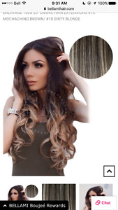 Bellami hair extensions. Brand new.. worn once
