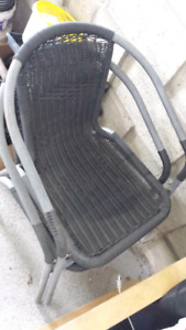 patio chairs, bed metal frames, ottoman, leather chair
