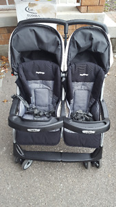 double stroller peg perego in great condition