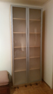 Billy Bookcase With Frosted Glass Doors