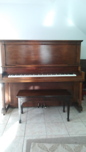 Piano and bench for sale 450.00 obo
