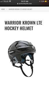 WARRIOR KROWN LTE HOCKEY HELMET- Size - Small - Brand New !!