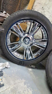 """22"""" 6 bolt vision wheels with 305/40/22 rubbers chevy/gmc"""