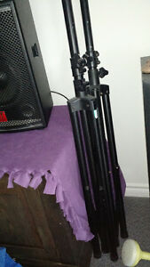 P.A SYSTEM 2 150 WATT SPEAKERS 4 CHANNEL MIXER ,TRIPOD TELECOPIC Kingston Kingston Area image 4