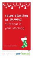 RATES STARTING AT 19.99% - STUFF THAT IN YOUR STOCKING