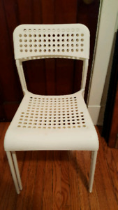 White Ikea chairs