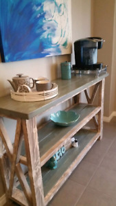 New Rustic Handmade Buffet table/Tv stand $495...