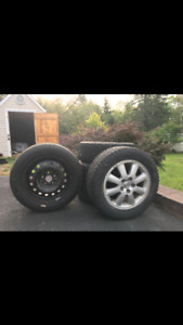 4 studded winter tires + spare