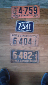 Prince Edward island license plate collection