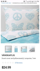 IKEA twin duvet and pillowcases