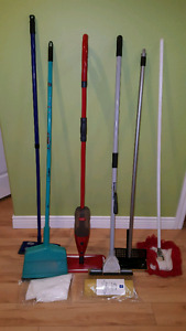 Various cleaning supplies - mops etc.