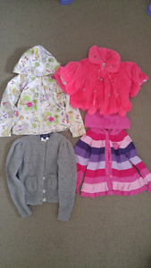 Lot of 4 toddler girl hoodie, cardigan, sweater, 2T/3T