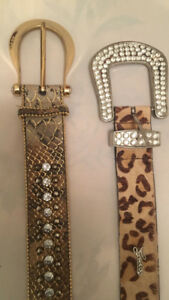Guess belts with Swarovski crystals