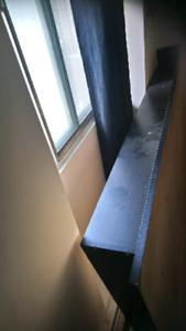 Platform black bed frame black