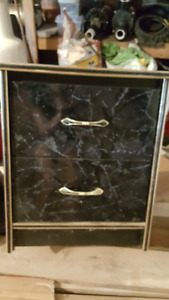 2 Faux marble dressers
