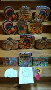 175 Thanksgiving Crafts book & 13 laminated decorations