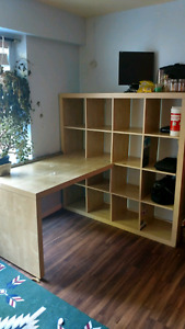 Ikea shelf and desk for sale! $100 obo
