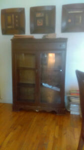 Antique China Cabinet with glass doorss