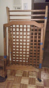 Solid wood Baby Crib with Mattress,